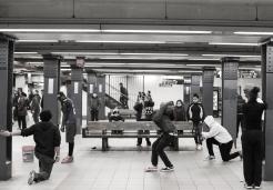 Ambiance Hip Hop dans le métro